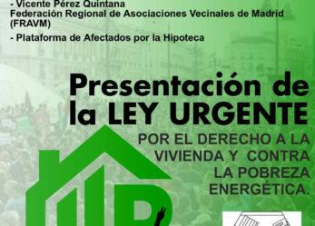 Acto presentación de la ILP sobre vivienda digna