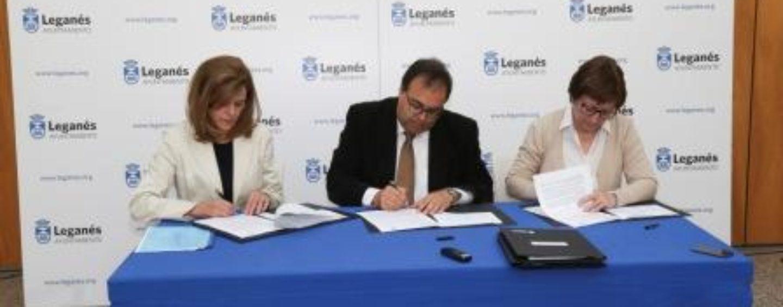 Ayuntamiento y CD Leganés renuevan el convenio anual y suscriben otro para ratificar la  subvención para la mejora de las infraestructuras deportivas