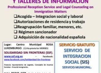 Proyecto SIS Acogida y asesoramiento jurídico para extranjeros