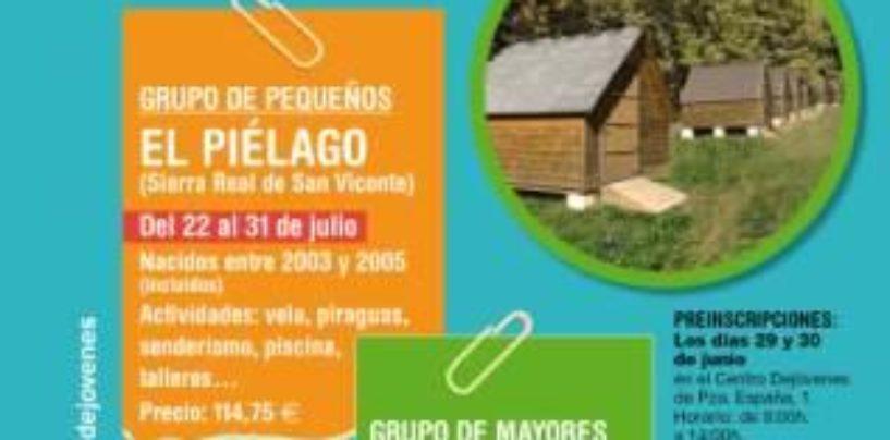 Comienza el periodo de inscripción para los campamentos de verano de Dejóvenes