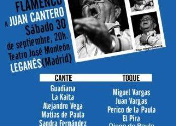 Leganés reunirá a los principales representantes del flamenco de Badajoz en el homenaje al cantaor Juan Cantero