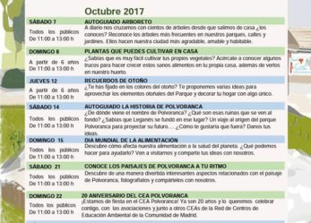 Programa octubre CEA Polvoranca