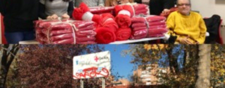 ULEG dona mantas y colchas a Cruz Roja Leganés para el albergue municipal