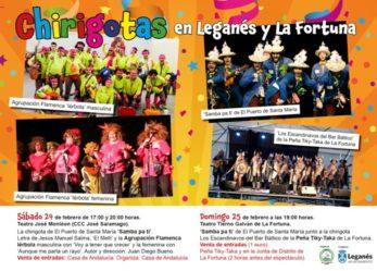 Chirigotas en Leganés y La Fortuna