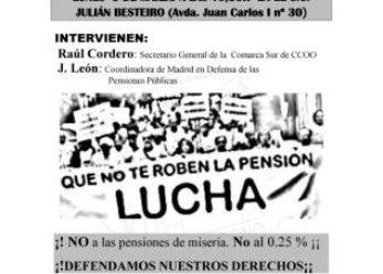 Acto en defensa de las pensiones