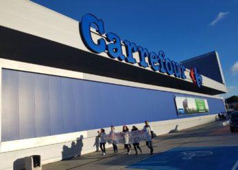 Huelga de mujeres en el Carrefour de Leganés