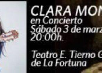 Programación cultural 'A Escena' para el 2 y 3 de Marzo y concierto de Clara Montes en La Fortuna (3 de marzo)