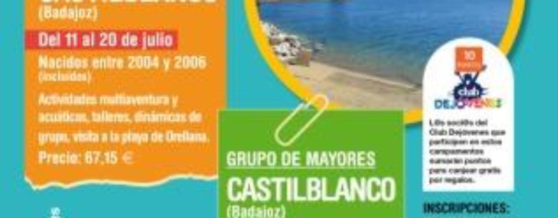 El Ayuntamiento lanza una nueva oferta de campamentos para jóvenes de Leganés, que disfrutarán de 9 días en Castilblanco (Badajoz) por sólo 67 euros