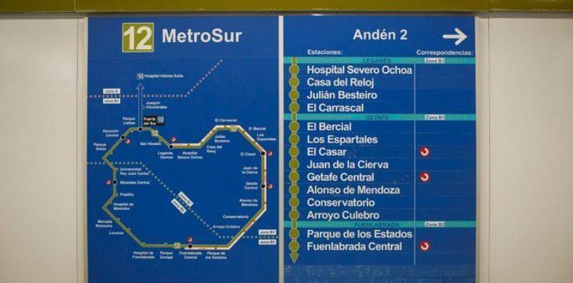 Corte de la línea 12 (Metrosur) desde el sábado 28 de julio al 14 de octubre