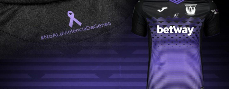 El C.D. Leganés estrenará la camiseta contra la violencia de género en su visita al Bernabéu