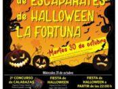 El Ayuntamiento y los comerciantes de La Fortuna celebran Halloween con concursos de escaparates y calabazas y fiesta en el barrio