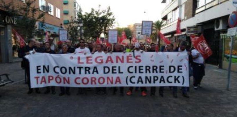 Comunicado sobre el cierre de la fábrica TAPON-SPAIN de Leganés
