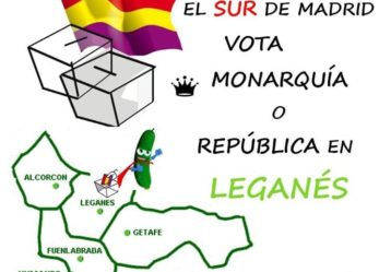 El sur de Madrid vota Monarquía o República en Leganés