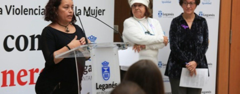 'Mujer, ni un paso atrás', lema elegido para la campaña del Ayuntamiento de Leganés del 8 de marzo, Día Internacional de la Mujer