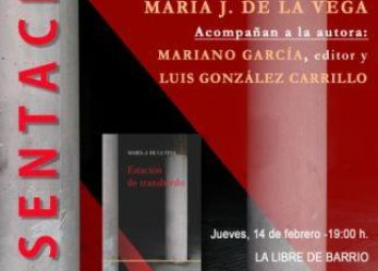 Presentación del libro de poemas de María de la Vega:  Estación de transbordo