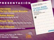 """Presentación del libro: """" Cartas desde el manicomio"""""""