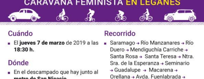 Caravana feminista en Leganés