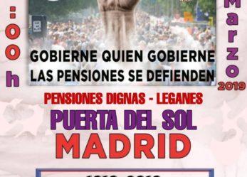 El 11 de marzo, otro lunes al sol por unas pensiones dignas