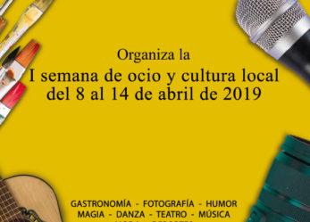 Ocio en Leganés organiza la I semana de ocio y cultura local de Leganés del 8 al 14 de abril de 2019