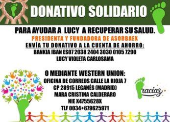 Donativo solidario por la salud de Lucy