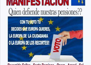 Manifestación: ¿Quién defiende nuestras pensiones?