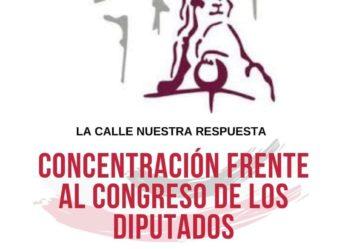 Concentración frente al Congreso de los Diputados