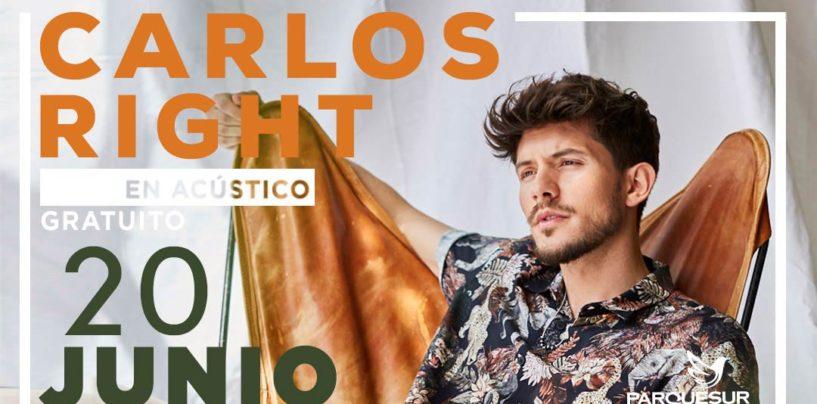 Carlos Right inaugura el verano con un concierto en acústico en el Centro Comercial Parquesur