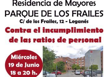 Concentración trabajadores residencia P. Los Frailes