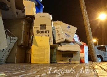 La recogida de basuras al 50% en Leganés por falta de personal