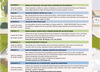 Programación de septiembre de los Centros de Educación Ambiental Polvoranca y Bosque Sur