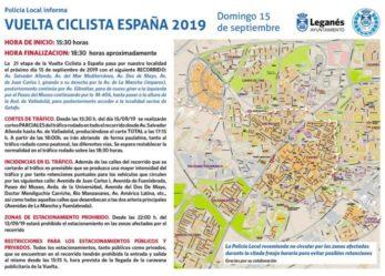 La Vuelta Ciclista a España 2019 pasa hoy por Leganés