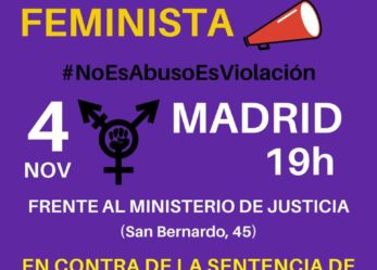 Concentración feminista: #NoEsAbusoEsViolación