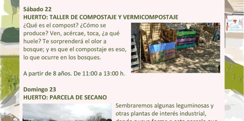 Programación del fin de semana en Centros de Educación Ambiental