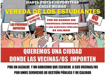 Manifestación 16 de febrero: Vereda de los estudiantes