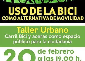 Taller urbano: Uso de la bici como alternativa de movilidad