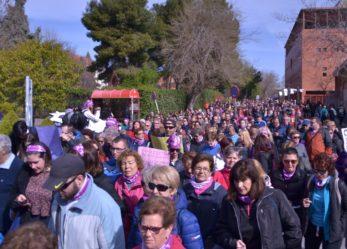 Una gran marcha morada recorre las calles de Leganés para celebrar el Día Internacional de la Mujer