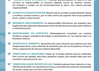 Orientaciones para la gestión psicológica de la cuarentena y recomendaciones para explicárselo a los niños y niñas