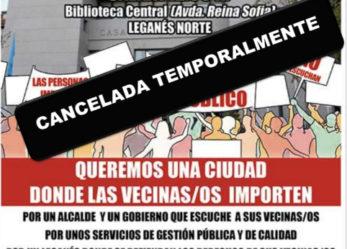 Cancelada: manifestación 15 de marzo en Leganés Norte