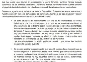 Comunicado del Colectivo Pedagógico AMA-GI