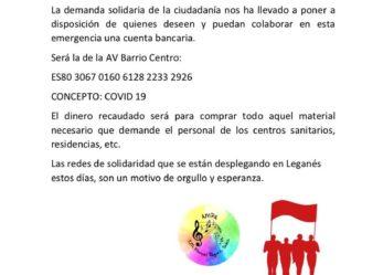 Campaña vecinal solidaridad covid-19