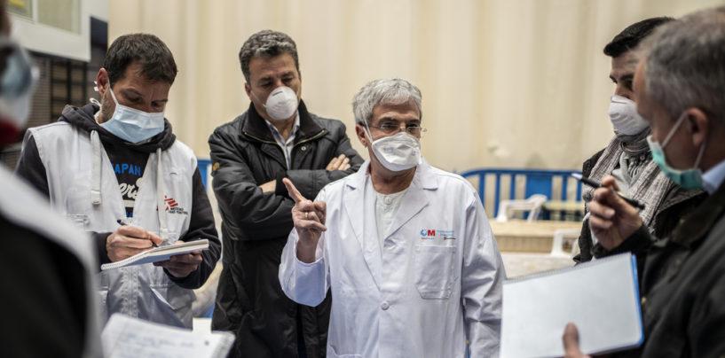 Comienza a funcionar el hospital de campaña con capacidad para 120 camas