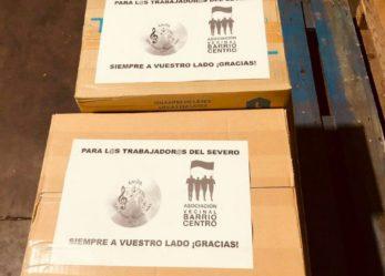 Entregado material solidario al Hospital Severo Ochoa