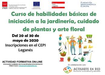 """Formación empleo On line del CEPI: nuevo curso """"Curso de habilidades básicas de iniciación a la jardinería, cuidado de plantas y arte floral"""""""