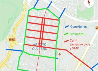 Propuesta de movilidad sostenible en Arroyo Culebro