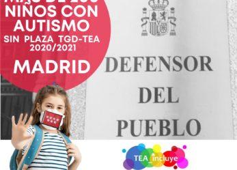 La Plataforma TEA Incluye denuncia la situación de los más de 200 niños con autismo ante el Defensor del Pueblo