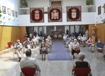 Recepción a los representantes de las Juntas directivas de los centros de mayores municipales