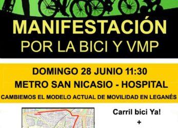 Manifestación Bicicletada en Leganés