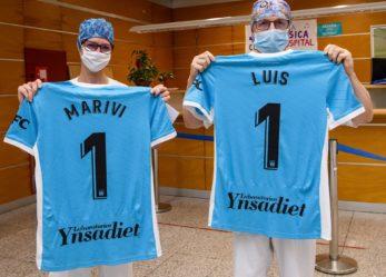 El CD Leganés homenajea a los sanitarios con su tercera equipación