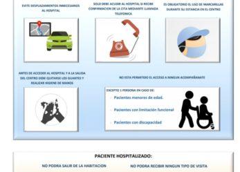 Normas de acceso al hospital para pacientes y acompañantes