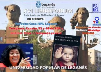 Almudena Grandes participará mañana martes en un encuentro literario online con alumnos y alumnas de la Universidad Popular de Leganés